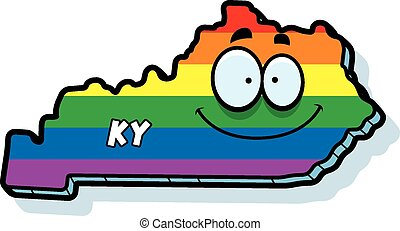 Cartoon Kentucky Gay Marriage - A cartoon illustration of...