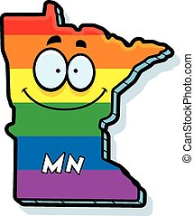 Cartoon Minnesota Gay Marriage - A cartoon illustration of...