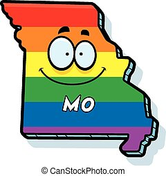 Cartoon Missouri Gay Marriage - A cartoon illustration of...