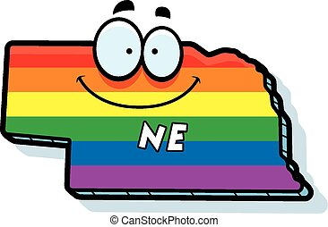 Cartoon Nebraska Gay Marriage - A cartoon illustration of...