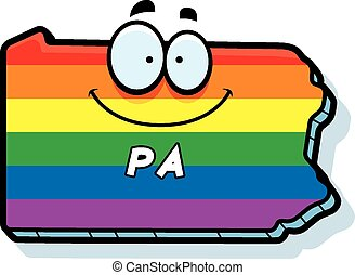 Cartoon Pennsylvania Gay Marriage - A cartoon illustration...