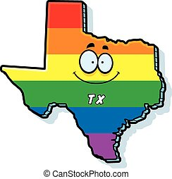 Cartoon Texas Gay Marriage - A cartoon illustration of the...