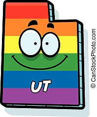 Cartoon Utah Gay Marriage - A cartoon illustration of the...