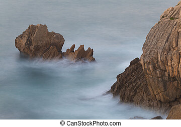 Sea in Liencres, Cantabria, Spain