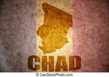 chad vintage map - chad map on a vintage chad flag...