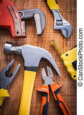 ensemble, de, Outils, marteau, pinces, réglable,...