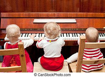 piano, lição