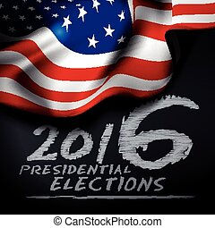 Presidential elections in the United States Vector...