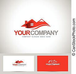 House Logo Design - House Design Real estate vector Mountain...