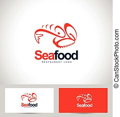 Seafood Restaurant Logo Design Creative logo concept with...
