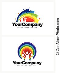 Kindergarten Logo Design Vector design elements for a...