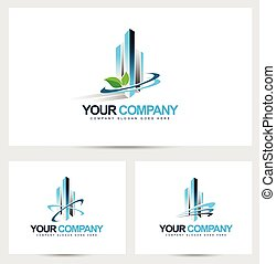 Corporate Building Logo Vector Design for Real Estate...