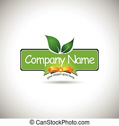 Food Label Logo Design. Creative food company logo design...