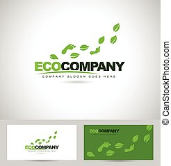 Eco Foot Print Logo Design Creative logo concept with feet...