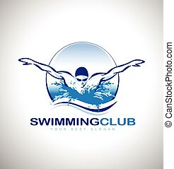 Swimming Logo - Swimming Design Swimmer design Creative swim...