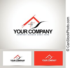 House Logo Design. Architecture Concept with business card...