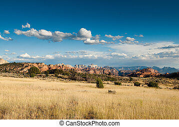kolob plateau in zion national park - panorama in colob...