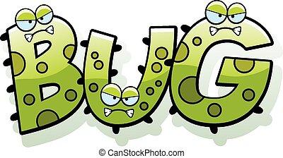 Cartoon Bug Germ Text