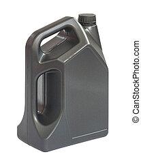 Gallon of lubricant oil, clipping path include in file.