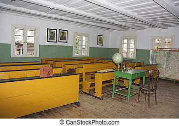classroom in the old school