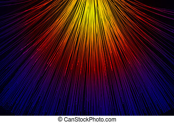 light conductors - In optical fibers occurs colored light at...