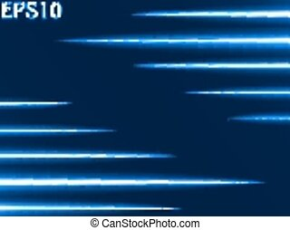light rays (horizontal two sided rays,blue colored version)