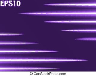 light rays (horizontal two sided rays,violet colored...