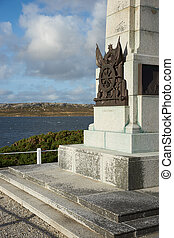 Memorial in Stanley, capital of the Falkland Islands, to the...