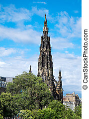 The Scott Monument in Edinburgh - The tower of the Scott...