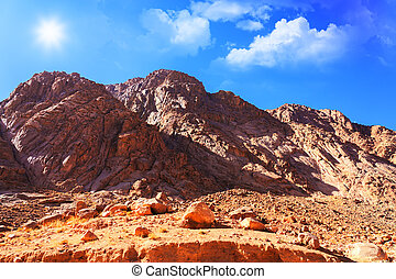 Mount Moses in Sinai, Egypt - Mount Moses in the Sinai...
