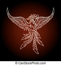 The Phoenix Ebmlem - Phoenix emblem drawn in tattoo style.