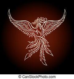 The Phoenix Ebmlem - Phoenix emblem drawn in tattoo style.