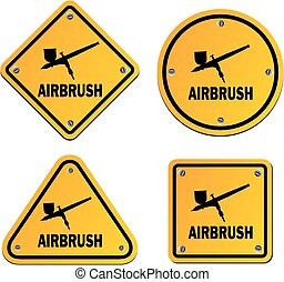 airbrush signs - road signs - suitable for illustration