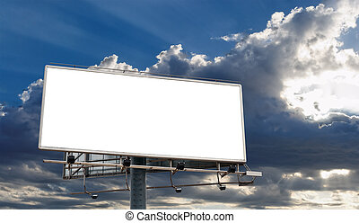 Blank Billboard - Billboard Blank Screen in front of...