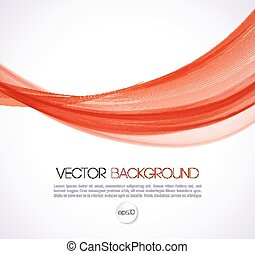 Abstract curves line background. Template brochure design -...
