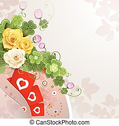 Valentine's day card with flowers