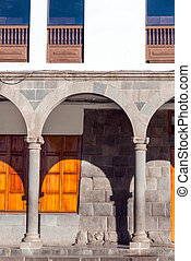 Arches in Cuzco, Peru