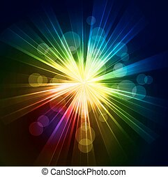 Abstract starburst light background - Vector illustration...