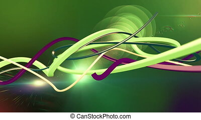 Colorful Abstract Lines Computer Animation Loop animation