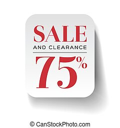 Sale 75% label