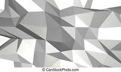 Low poly abstract background Loop animation