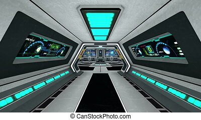 control room - image of space ship control room.