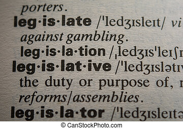 Definition of the word legislative