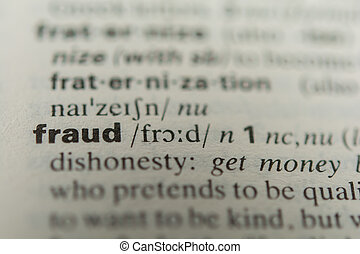 Definition of the word fraud