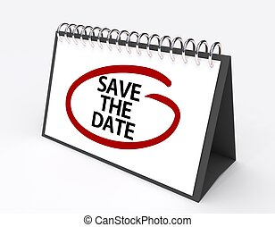 Save The Date - Calendar with the words save the date...