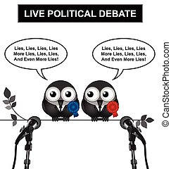 Political Debate - Monochrome comical live political debate...