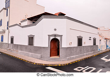 Typical Colonial Old Buiding in the Canary Islands
