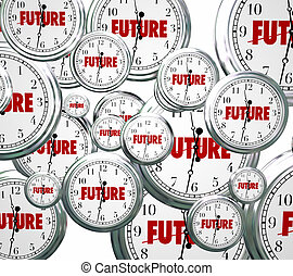 Future Word Clocks Moving Forward Tomorrow Next Progress -...