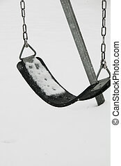 Swingset in cold weather - Swing set seat in cold weather...
