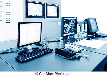 Control Room - Computer control room technology industry,...